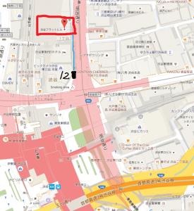 渋谷α鍼灸整骨院地図