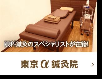 眼科鍼灸のスペシャリストが在籍!東京α鍼灸整骨院